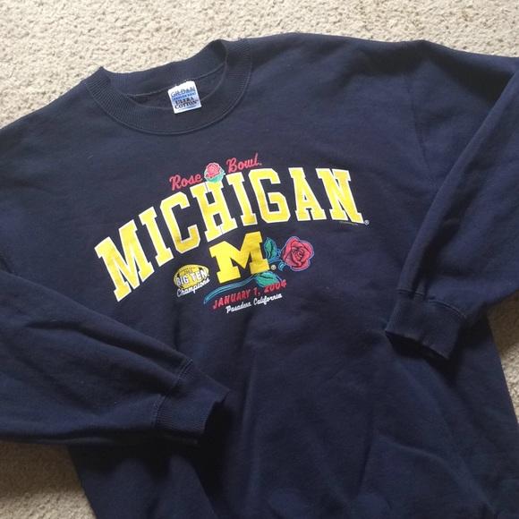 release date: faa52 c5593 Vintage Michigan Rose Bowl Sweatshirt